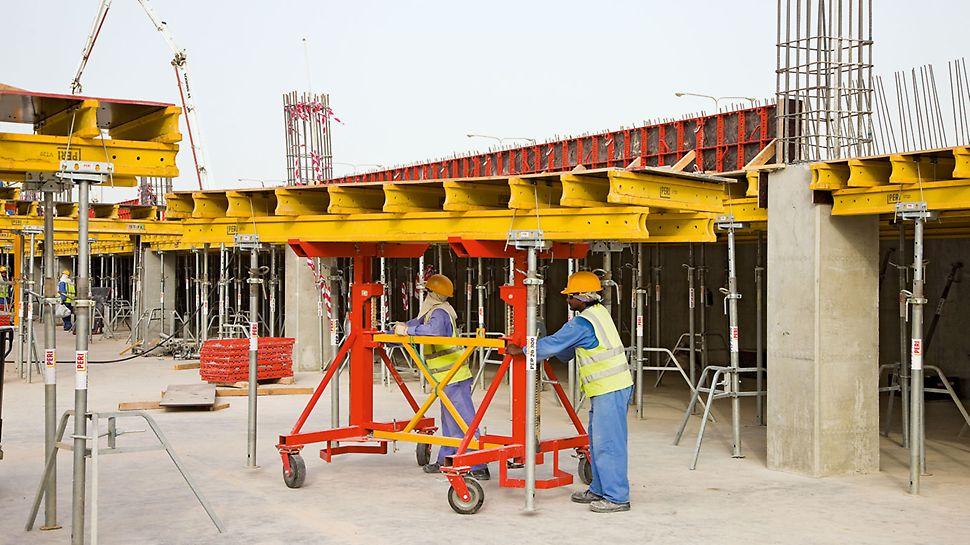 Pozicioniranje 63.000 kvadratnih metara modularnih stolova.