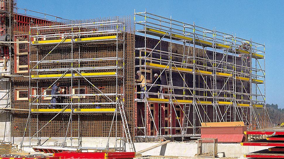 Armovací lešení PERI UP Rosett: stavebnicový princip, nekotvené armovací lešení.