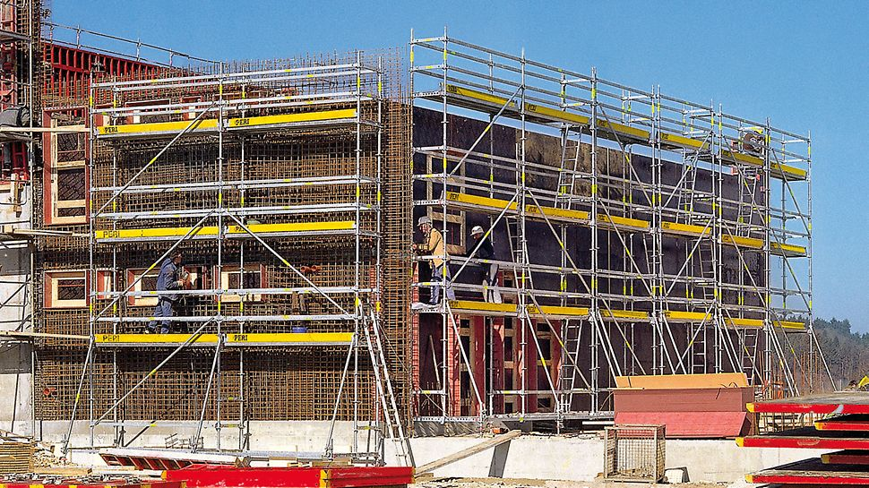 PERI UP Rosett Reinforcement: Modular principle: Reinforcement Scaffold without anchors