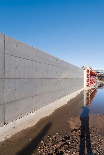 Bild der sehenswerten Betonoberfläche.