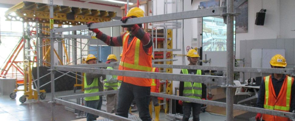 Standard and/or customized Formwork, Scaffold and Safety related trainings for the wide range of PERI systems used in the region