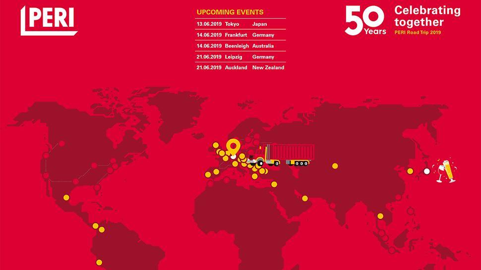 Roadmap 50 Jahre PERI Feiern