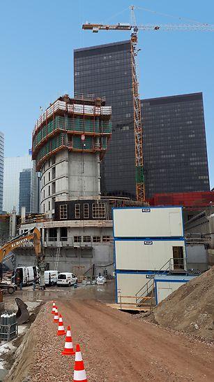 Le gros œuvre d'un étage se termine en sept jours grâce au coffrage grimpant RCS.