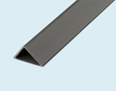 Chamfer strip, creates a bevel at the edge of finished concrete