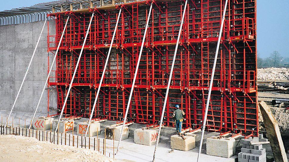 RS stabilizátory: Stabilizátory PERI sú navrhnuté so zreteľom na dlhú životnosť, minimálne náklady na údržbu a jednoduchú manipuláciu.