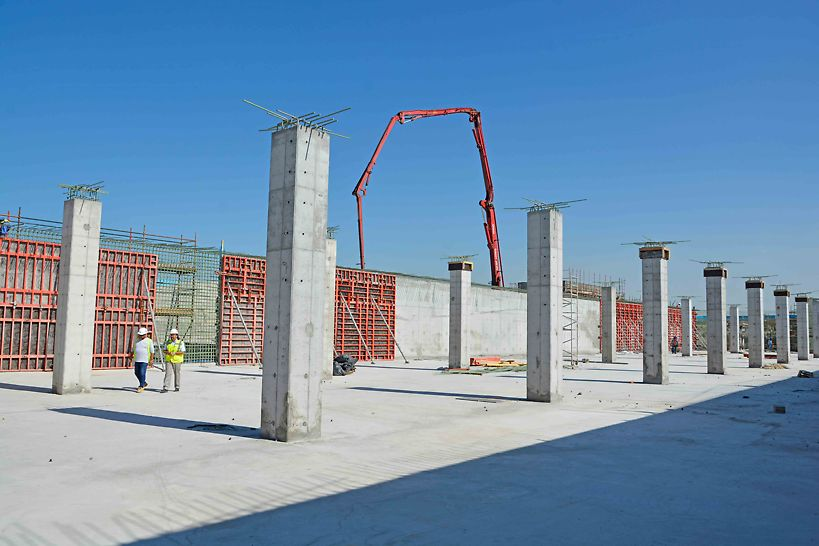 120 m long walls poured with TRIO wall formwork in one continuous pour