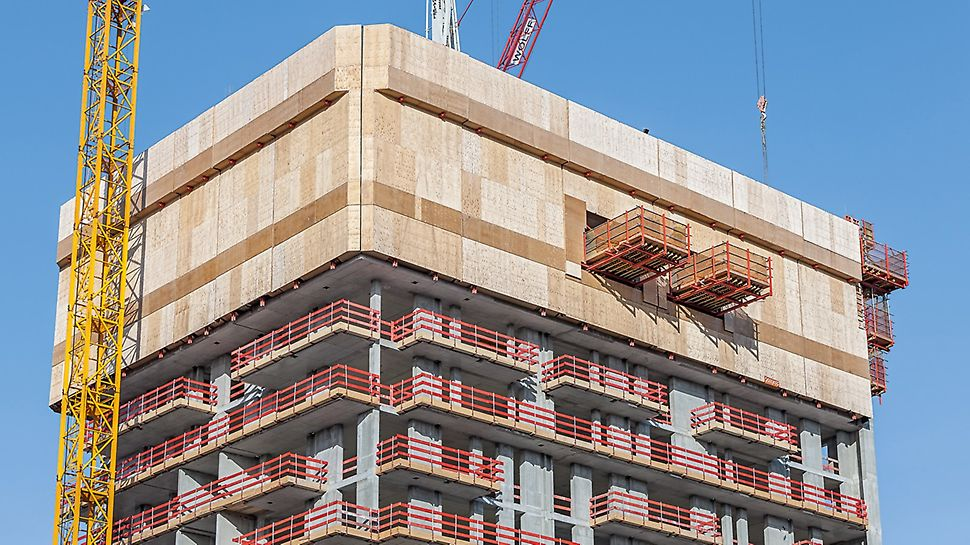 Henninger Turm - The project specific customized climbing formwork solution