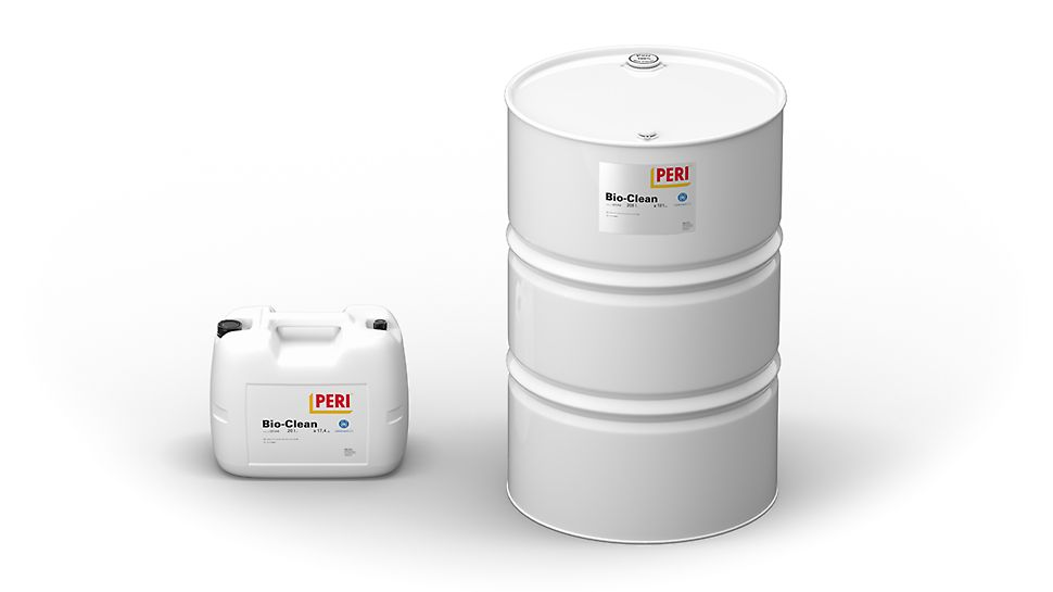 PERI Clean, PERI Bio Clean a PERI Plasto Clean - Separační prostředky pro jakákoli bednění a nářadí