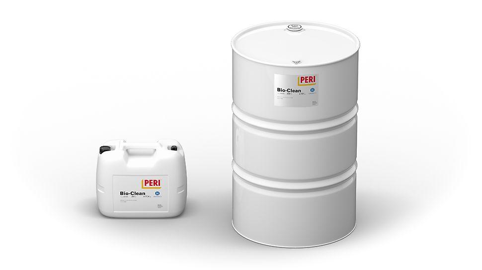 PERI Clean, PERI Bio Clean en PERI Plasto Clean: Ontkistingsoliën voor al uw bekisting en bekistingmateriaal