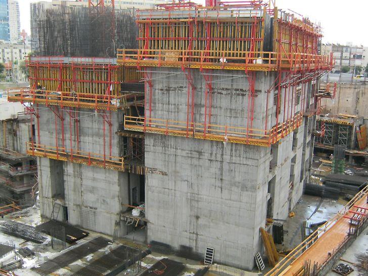 מגדל עזריאלי המרובע - גרעין המבנה