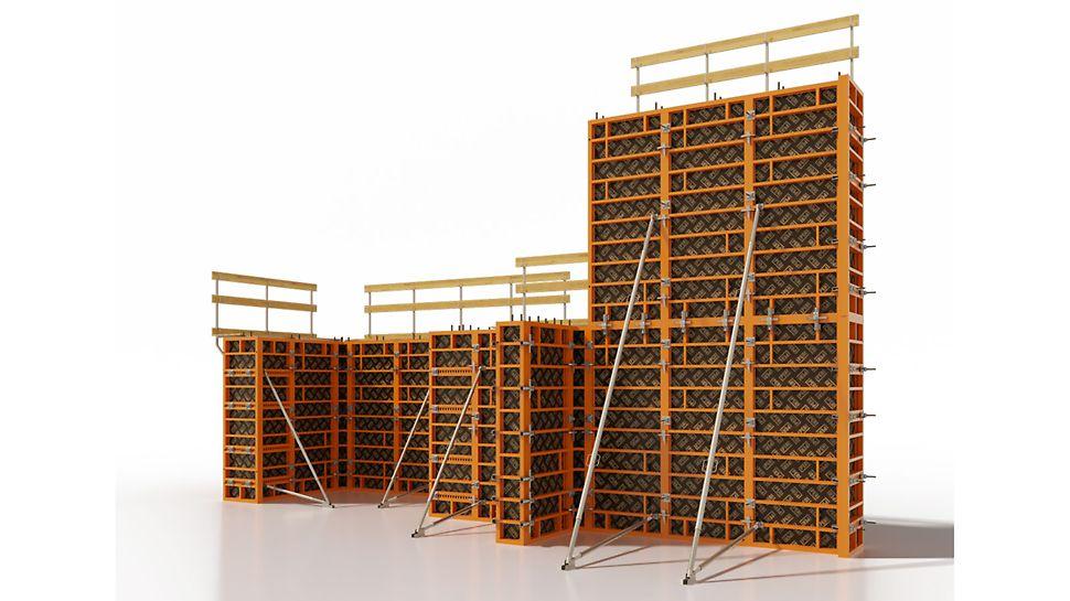 рамнощитовая опалубка, крупнощитовая опалубка, опалубка стен, опалубка колонн, опалубка фундаментов, инвентарная опалубка, опалукба купить