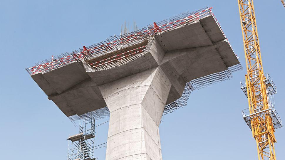 Viaduto Transrhumel - Sequência de montagem do STEP 5