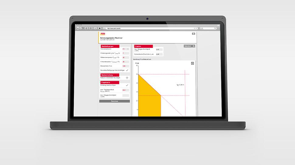 Aplikacija za izračun opterećenja oplate za ekonomičnu i učinkovitu primjenu PERI sisteme zidne oplate i sidrenja.