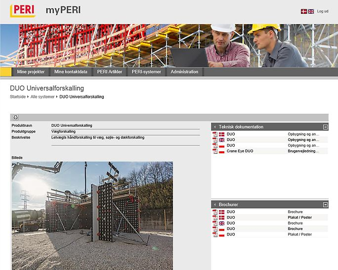 Med et enkelt klik har du adgang til brochurer og brugervejledninger.