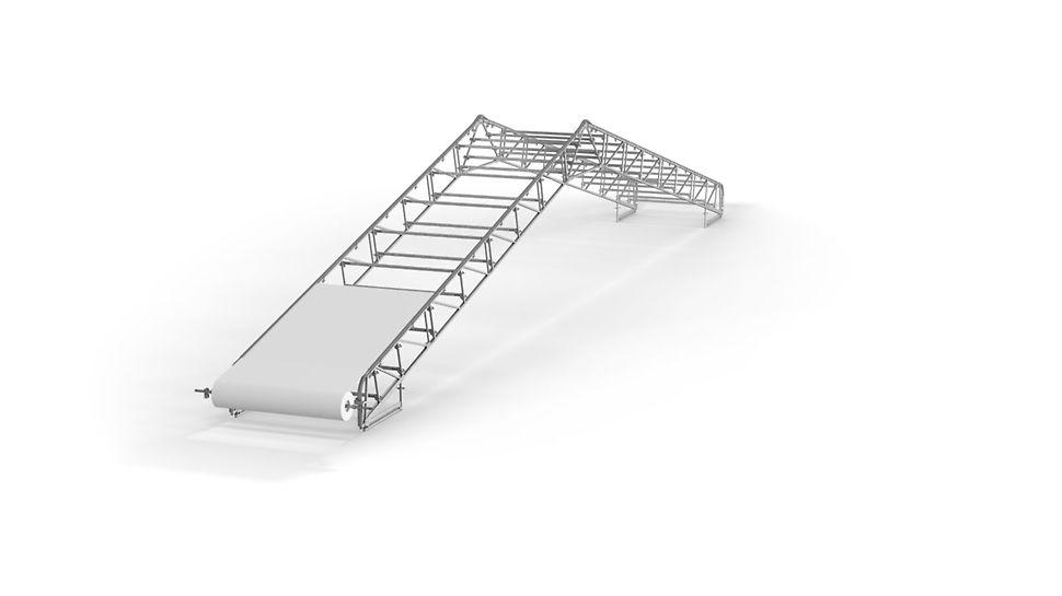 Cubierta protectora de la intemperie PERI UP Flex: Las cerchas LGS estándar constituyen la base de múltiples formas de techo
