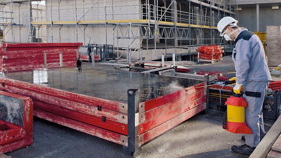 PERI Bio Clean er et flydende, kemisk-fysisk virkende betonslipmiddel til alle formsystemer og byggeredskaber.