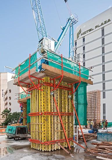 Progetto PERI - JKG Tower, Jalan Raja Laut, Kuala Lumpur, Malesia - Cassaforma a travi VARIO GT 24