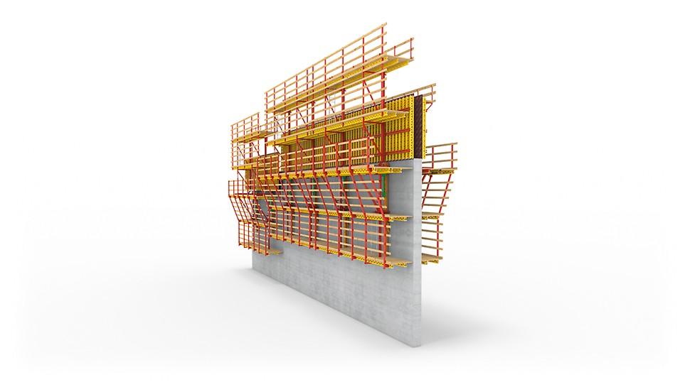 Samopenjajući sistem ACS R s jednostrano postavljenom armaturnom skelom.