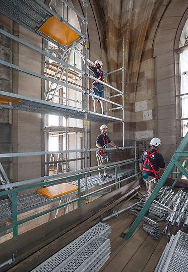PERI UP Gerüst im Glockenturm des Ulmer Münsters