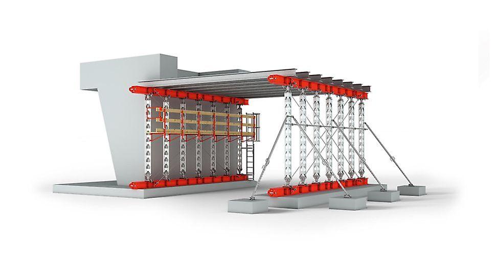 PERI Schwerlaststütze HD 200 - die leichte Stütze für Lasten bis zu 200 kN
