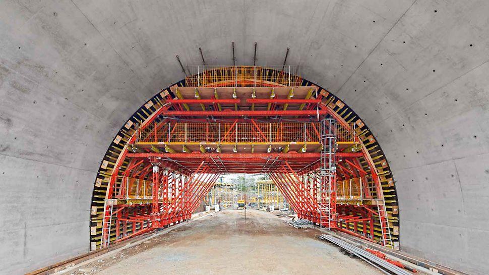 VTC Cassaforma traslabile per gallerie - in base alle necessità è possibile integrare la soluzione VARIOKIT con componenti di altri sistemi PERI