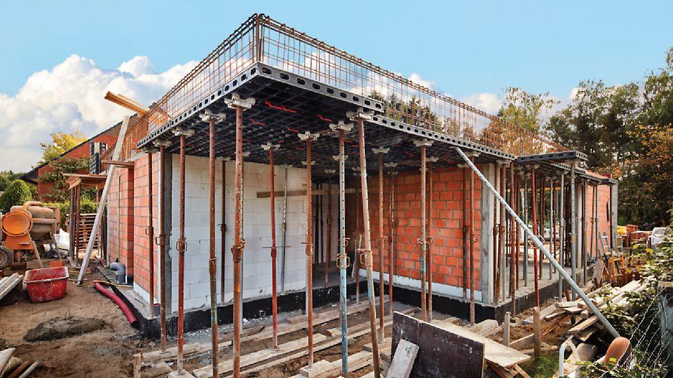Vadribo particuliere woning in Stekene: Voor bouwondernemer Vadribo was dit woningbouwproject een eerste geslaagde kennismaking met het DUO bekistingssysteem van PERI.