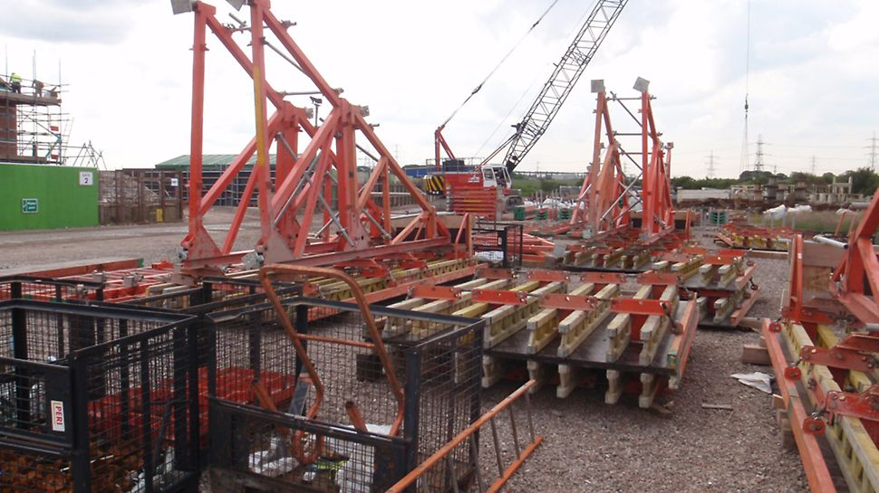 PERI's SB Brace Frame is a single sided formwork solution for heights up to 8.75m