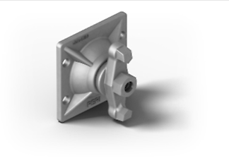 Wingnut Pivot Plate, for anchoring with tie rod Ø15