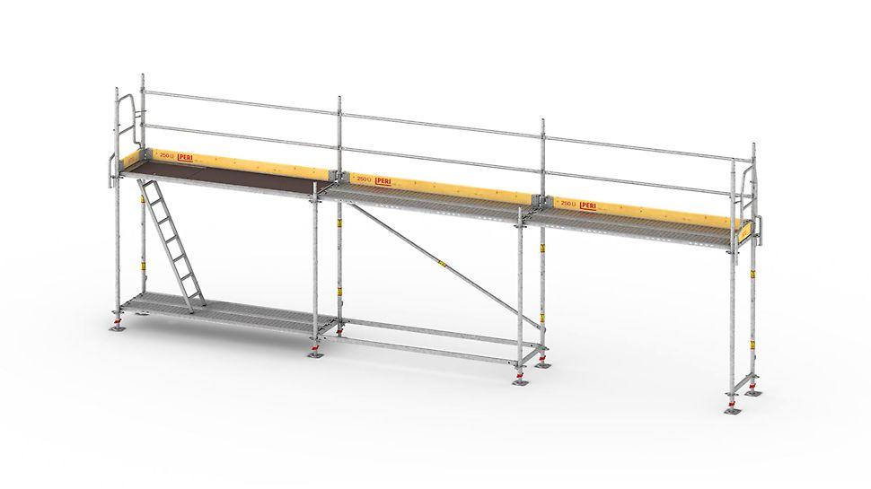 L'échafaudage cadre léger et rapide à monter, pour œuvrer en toute sécurité sur les façades