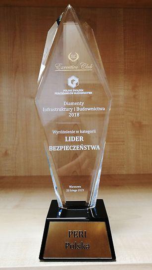"""Wyróżnienie """"Lider Bezpieczeństwa"""" dla PERI Polska"""