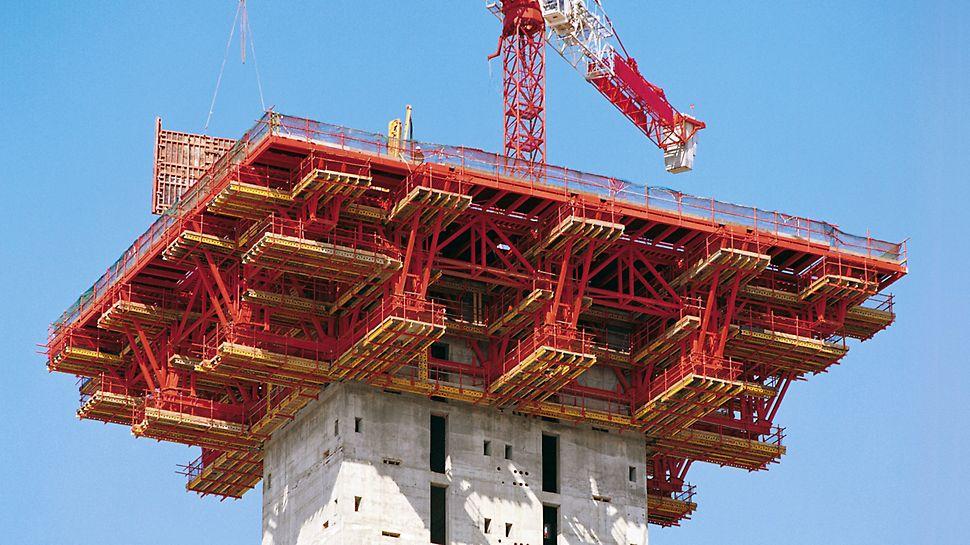 """Bilbao Exhibition Center, España – Para la construcción del """"BEC"""" los Ingenieros de PERI desarrollaron una solución práctica de cimbra y encofrado."""