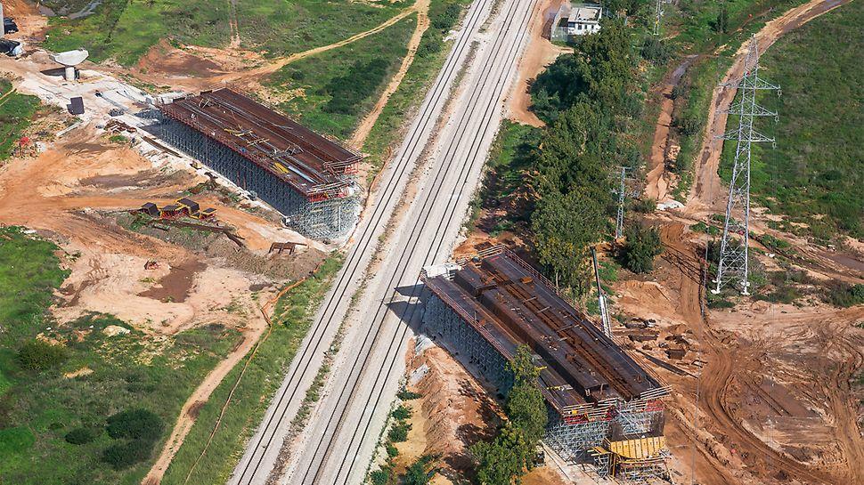 A solução de fôrmas e escoramento da PERI, bem como o suporte contínuo à obra, aceleraram a construção da ponte rodoviária de 450 metros (estrutura 301).