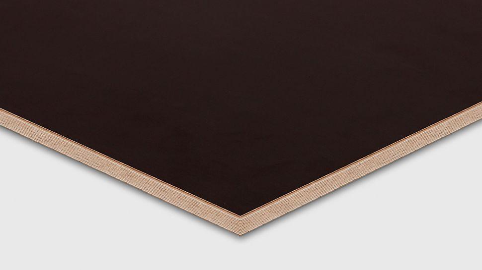 El tablero de gran tamaño para acabados de hormigón visto sin apenas juntas.