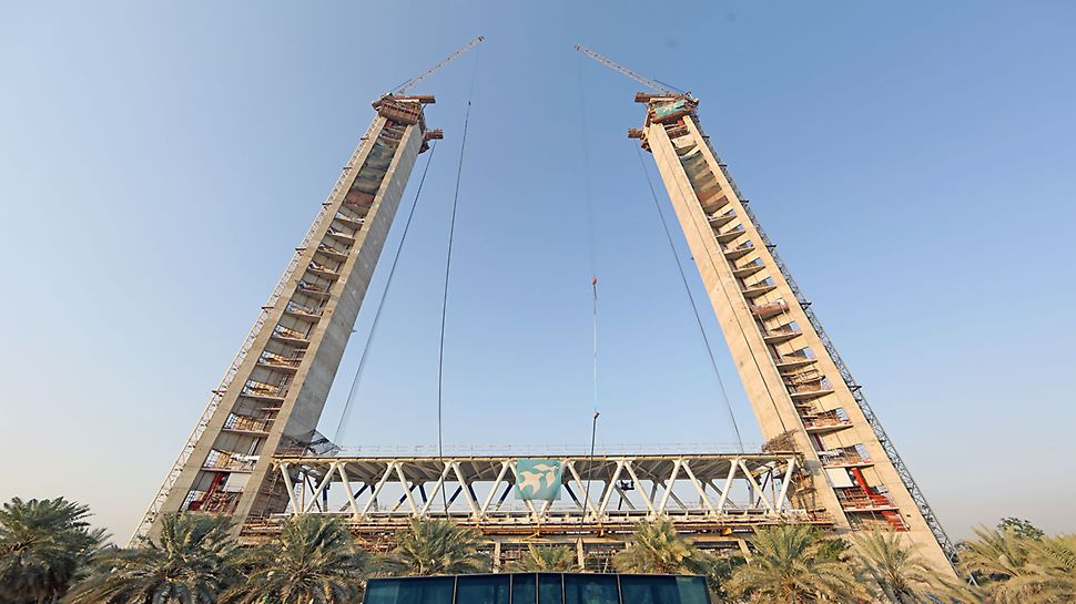An iconic project being built with PERI formworks set to  be linking the view of historic and modern Dubai