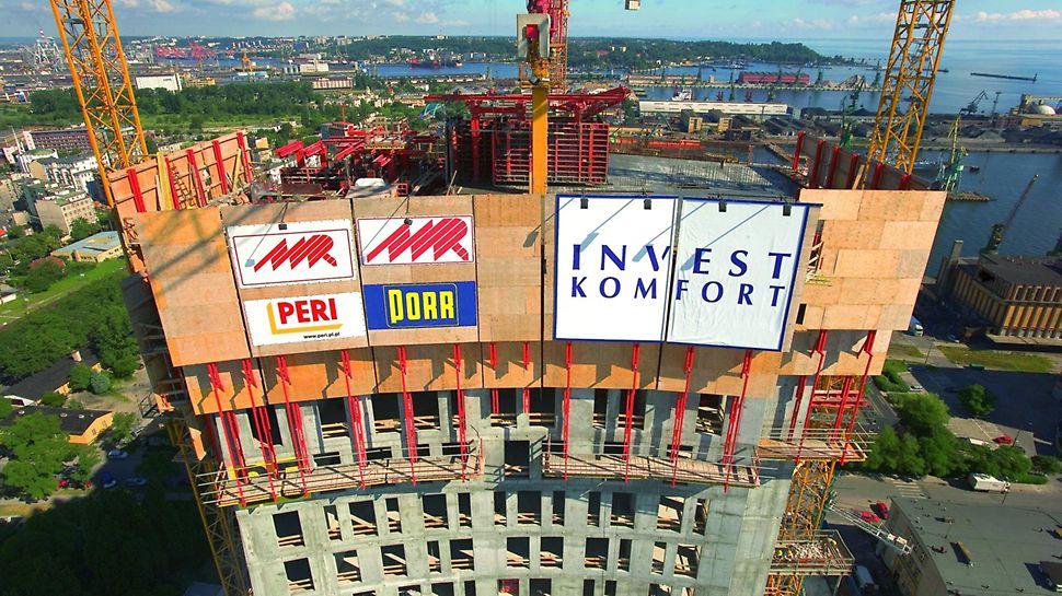 Sea Towers: osłony zabezpieczające RCS  spełniały funkcję zarówno osłony, jak i pomostu roboczego