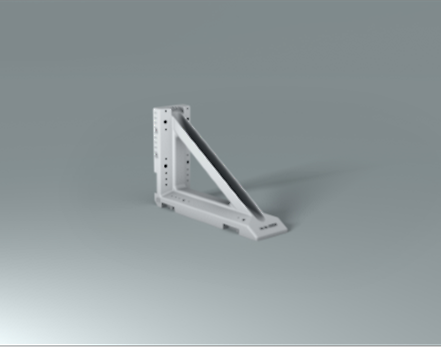 Stopend angle, used for slab formwork, edge beams and T-beams