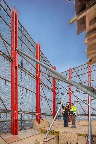An oberster Stelle steht die Sicherheit für das Baustellenpersonal und die Passanten