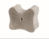 Concrete block spacer (Arch based), to ensure maintenance of specified cover to the reinforcement