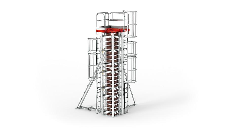 Deskowanie słupów RAPID - najwyższa jakość powierzchni betonu i wykończenia krawędzi.