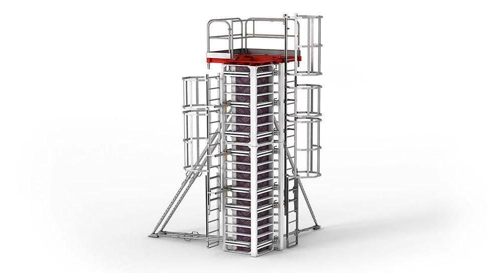 Patentētais saplākšņa fiksators nodrošina nevainojamu betona virsmas kvalitāti bez stiprinājumu vai skrūvju vietu nospiedumiem.