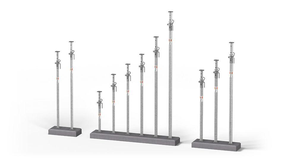 Оцинкованные стойки PEP Ergo с несущей способностью до 50 кН.