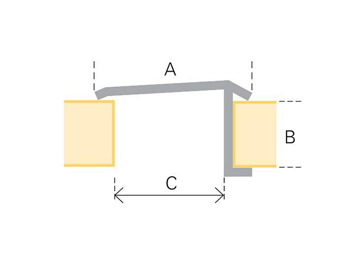 Profil stykowy poszycia: schemat