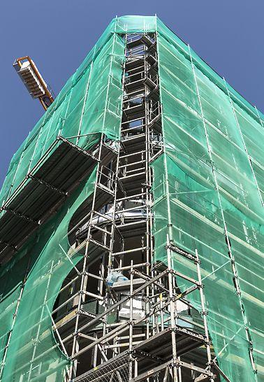 Staromestská offices, Bratislava, Slovensko - Spoločnosť PERI sa na realizácii projektu podieľala dodávkou modulového lešenia PERI UP Rosett a fasádneho lešenia PERI UP T 72 v celkovom množstve 4.100m².