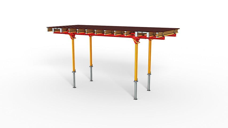 La mesa para losas con correas, para superficies de encofrado grandes y piezas prefabricadas pesadas