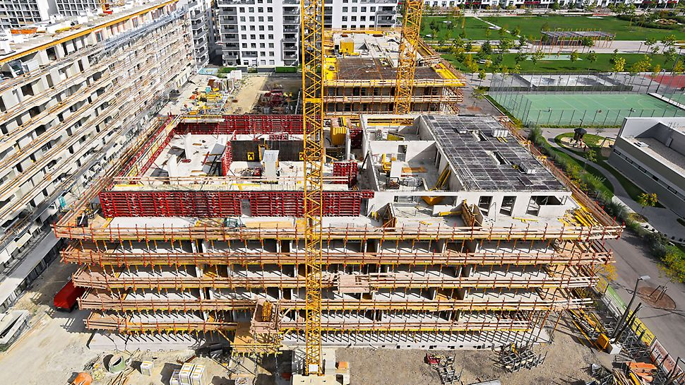 North Station Vienna - The use of efficient formwork systems for the walls and slabs ensured that the very tight completion deadline for the building shell could be met.