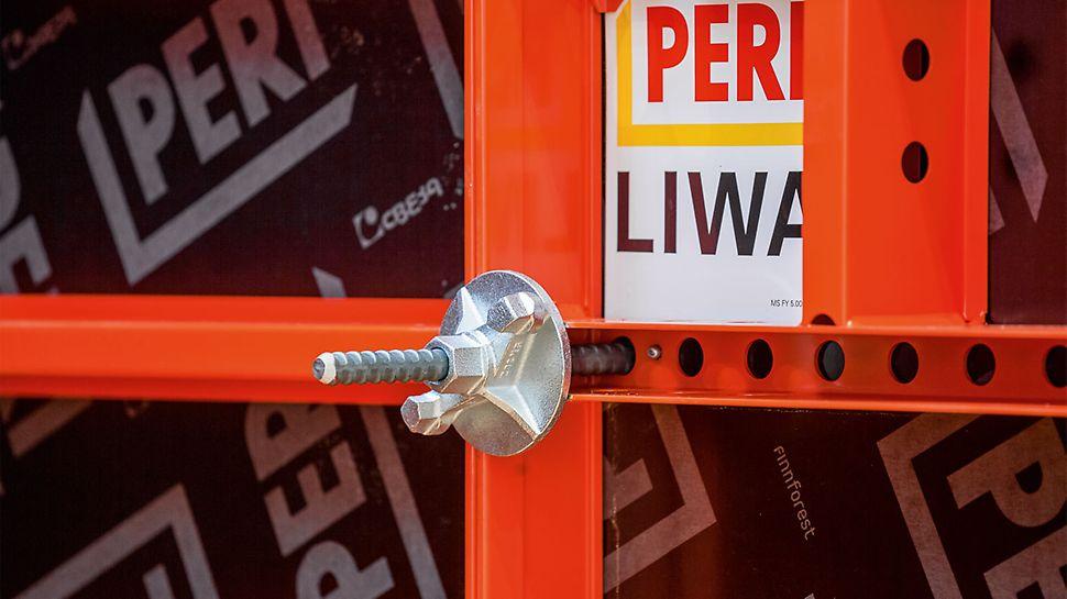Alle LIWA Elemente sind mit einer durchgängigen Lochleiste ausgestattet. Dadurch lässt sich jedes Element auch für Säulen oder als Eckelement einsetzen. So kommt LIWA mit einer sehr geringen Anzahl an Rahmenelementen aus.