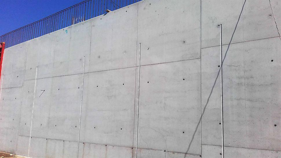 Rezultaty stosowania systemu PERI TRIO dla przyczółków w betonie widokowym klasy BA2.
