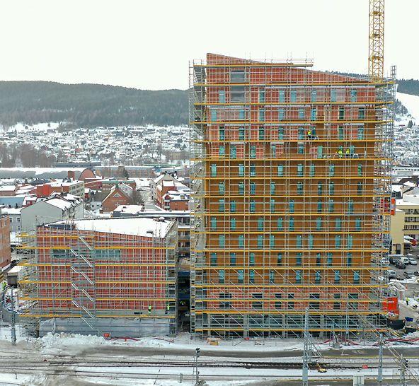 Drammen stasjon hotellet har 14 etasjer