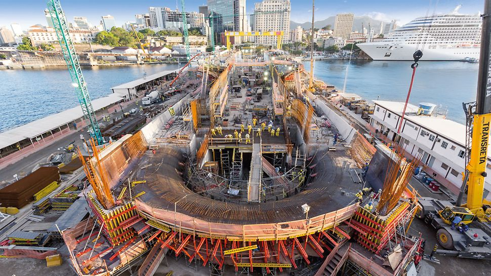 Museum of Tomorrow, Rio de Janeiro - An important part of the PERI overall concept was also providing perfectly matched formwork and scaffolding systems.