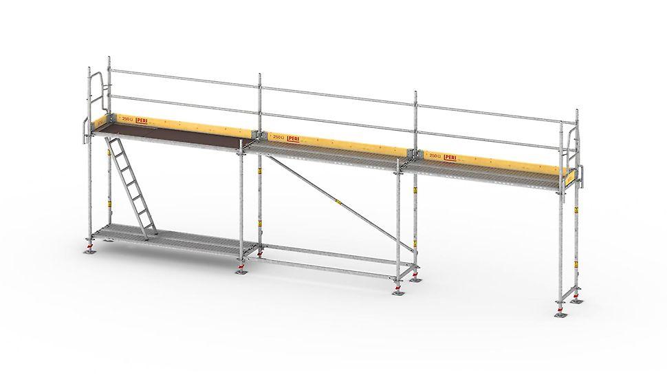 Lekkie i szybkie w montażu rusztowanie ramowe do bezpiecznego wykonywania robót fasadowych.